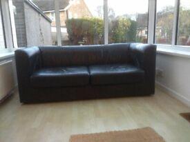 2 seater leather sofa.