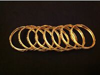 full and complete 8 BRACELET'S, Gram75, 21 22 CT gold Jewellery
