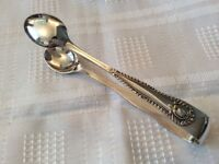 Silver Plated Sugar Tongs.
