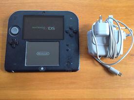 Nintendo 2DS console - blue & black
