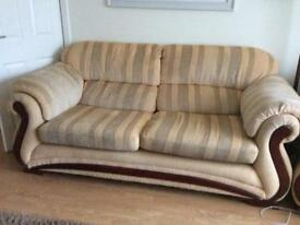 1 three seater sofa 2 arm chairs and 1 puffe