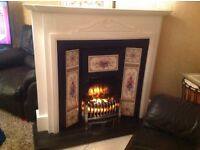 Stunning fire suite with electric fire