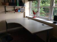Very large office corner desk