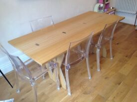 Made. com Double cross extending dining table and console seats up to 8