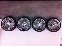 19 inch Genuine BMW 313 Alloy wheels with tyres