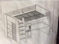 Cabin storage sleeper bed
