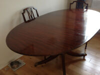 DINING TABLE - -Mahogany Table & 6 Chairs
