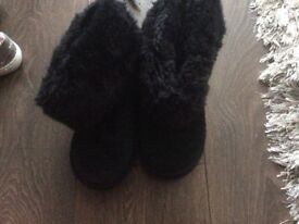 Black girls fur boots from next size 1