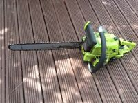 Metal cased poulan petrol chainsaw with 24inch blade