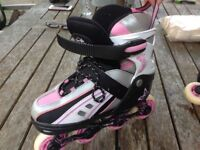 Roller skates for sale hardly used but don't fit no more, offers considered