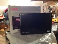 Boxed Logic 24 inch HD LCD with Freeview and built in DVD player PLUS wall bracket