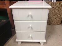 Small bedside 3 drawer cabinet