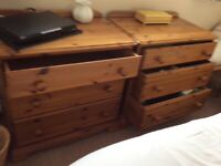 Pair of Pine chest of drawers
