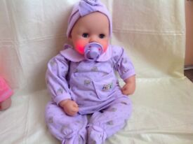 ZAPF CREATIONS BABY CHOU CHOU WORKING WITH OUTFIT