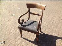 Curved wooden chair