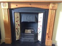 Victorian Style Fireplace with Gas Fuel Effect Fire Appliance