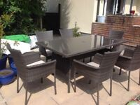 Mali six seater table and chair set with cushions new andcstill boxed