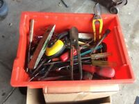 Box of used tools