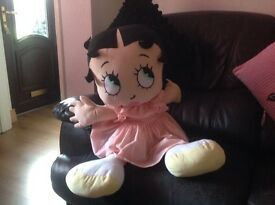 Large Betty boop soft toy
