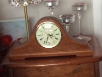 Seiko walnut case mantle clock with Westminster chimes. In perfect condition