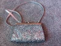 Monsoon girls silver glittery bag