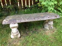 Small stone garden benchsm