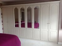 Bedroom wardrobe,dressing table with stool and mirror,5drawer chest