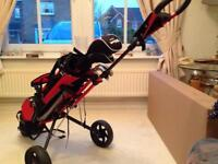 MASTERS GOLF TROLLEY CHILD JUNIOR YOUTH 3 WHEEL RED(2 for sale)