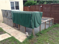 6ft X 8ft rabbit hutch with under run