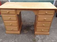 Quality Pine Desk/Dressing Table,Two Same Available,Can Deliver
