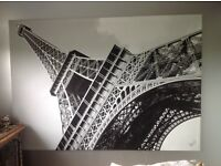 Large canvas print of Eiffel Tower