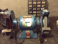 Bench grinder Clarke 8 inch with grinding wheel and wire wheel £40 (0758 0793656 no text messages