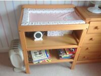 John Lewis changing table and Mothercare mat