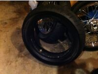 Harley Davidson Dunlop tyre and tube 160-70-17.