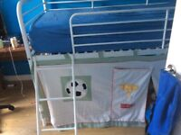 Next mid-sleeper bed with football tent