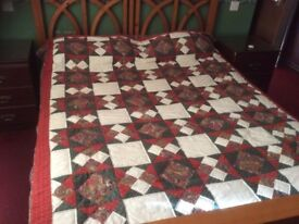 Double sized patchwork quilt throw.
