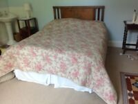 Lovely king size Sanderson bedspread - rarely used