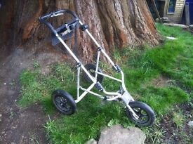 Clubs, bag and trolley for sale.