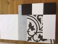 Approx. 200 Black and White tiles, plus free Slate Cutter