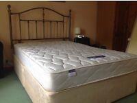 Double Bed, Mattress & Metal Headboard-SOLD