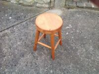 Small pine stool 46 cm high