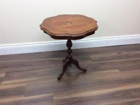 Inlaid Mahogany side table