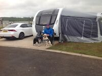Touring caravan Eccles Sport 584, 4 berth complete with full awning