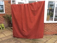 Full length lined curtains, excellent condition. 225 drop x 190 wide each