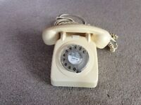 Old style dial telephone ivory