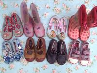 Size 6 and 6.5 girls shoe bundle, 8 pairs, Clarks leather, Start Rite, Doodles