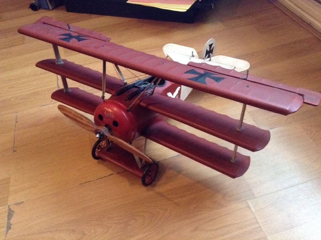 The Red Barons Triplane RARE 32 inch wingspan