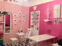 Room to rent for a Nail technician or similar .