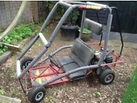 Two seater petrol go cart