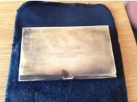 Silver Plated Business Card Holder - Compass Group 2002 Conference